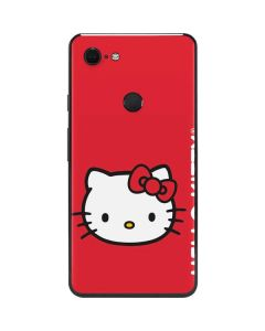Hello Kitty Cropped Face Red Google Pixel 3 XL Skin