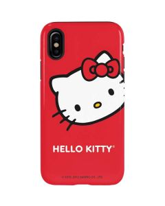 Hello Kitty Cropped Face Red iPhone XS Max Pro Case
