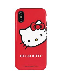 Hello Kitty Cropped Face Red iPhone XS Pro Case