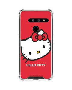 Hello Kitty Cropped Face Red LG G8 ThinQ Clear Case