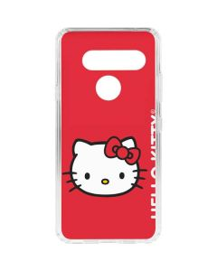 Hello Kitty Cropped Face Red LG V40 ThinQ Clear Case