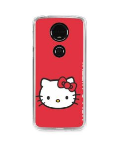 Hello Kitty Cropped Face Red Moto E5 Plus Clear Case