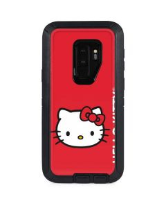 Hello Kitty Cropped Face Red Otterbox Defender Galaxy Skin