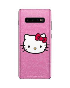 Hello Kitty Face Pink Galaxy S10 Plus Skin