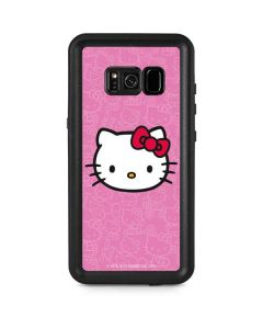 Hello Kitty Face Pink Galaxy S8 Plus Waterproof Case