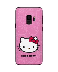 Hello Kitty Face Pink Galaxy S9 Skin
