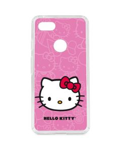 Hello Kitty Face Pink Google Pixel 3 XL Clear Case