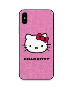 Hello Kitty Face Pink iPhone XS Skin