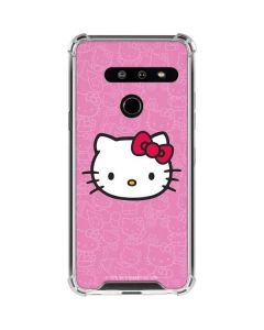 Hello Kitty Face Pink LG G8 ThinQ Clear Case