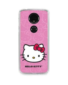 Hello Kitty Face Pink Moto E5 Plus Clear Case