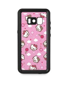 Hello Kitty Lollipop Pattern Galaxy S8 Waterproof Case
