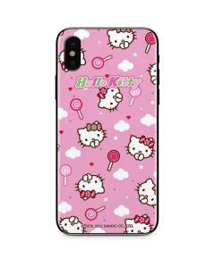 Hello Kitty Lollipop Pattern iPhone X Skin