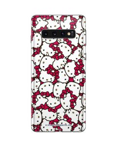 Hello Kitty Multiple Bows Pink Galaxy S10 Skin