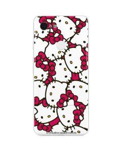 Hello Kitty Multiple Bows Pink Google Pixel 3 Skin