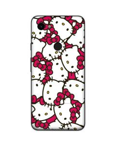 Hello Kitty Multiple Bows Pink Google Pixel 3a Skin