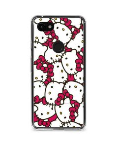 Hello Kitty Multiple Bows Pink Google Pixel 3a XL Clear Case