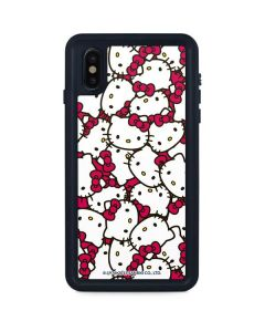 Hello Kitty Multiple Bows Pink iPhone XS Max Waterproof Case