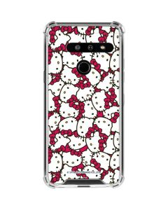 Hello Kitty Multiple Bows Pink LG G8 ThinQ Clear Case