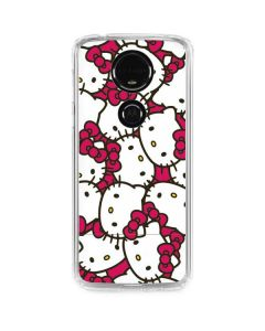 Hello Kitty Multiple Bows Pink Moto E5 Plus Clear Case