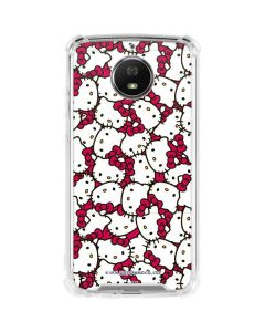Hello Kitty Multiple Bows Pink Moto G5S Plus Clear Case