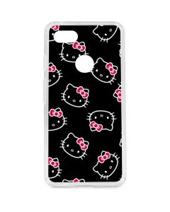 Hello Kitty Pattern Google Pixel 3 XL Clear Case