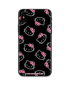 Hello Kitty Pattern iPhone X Skin