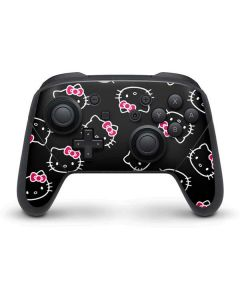 Hello Kitty Pattern Nintendo Switch Pro Controller Skin