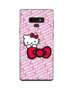 Hello Kitty Pink Bow Peek Galaxy Note 9 Skin