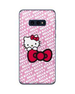 Hello Kitty Pink Bow Peek Galaxy S10e Skin