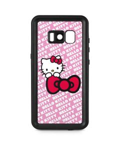 Hello Kitty Pink Bow Peek Galaxy S8 Plus Waterproof Case