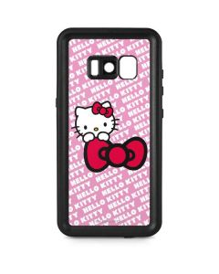 Hello Kitty Pink Bow Peek Galaxy S8 Waterproof Case
