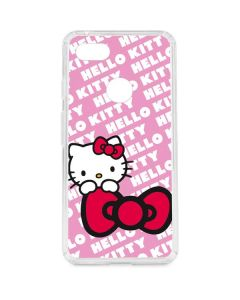 Hello Kitty Pink Bow Peek Google Pixel 3 XL Clear Case
