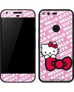 Hello Kitty Pink Bow Peek Google Pixel Skin
