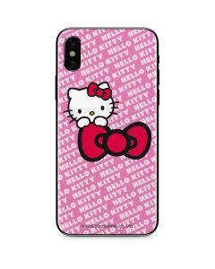 Hello Kitty Pink Bow Peek iPhone XS Max Skin