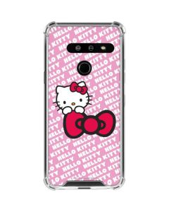 Hello Kitty Pink Bow Peek LG G8 ThinQ Clear Case