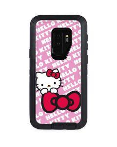 Hello Kitty Pink Bow Peek Otterbox Defender Galaxy Skin