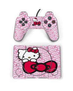 Hello Kitty Pink Bow Peek PlayStation Classic Bundle Skin