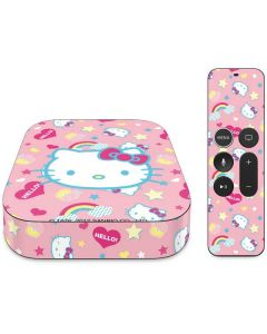Hello Kitty Pink, Hearts & Rainbows Apple TV Skin