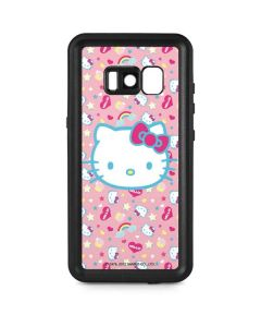 Hello Kitty Pink, Hearts & Rainbows Galaxy S8 Waterproof Case