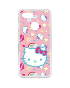 Hello Kitty Pink, Hearts & Rainbows Google Pixel 3 Clear Case