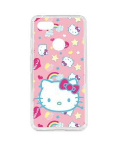 Hello Kitty Pink, Hearts & Rainbows Google Pixel 3 XL Clear Case