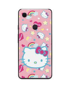 Hello Kitty Pink, Hearts & Rainbows Google Pixel 3 XL Skin