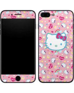 Hello Kitty Pink, Hearts & Rainbows iPhone 7 Plus Skin