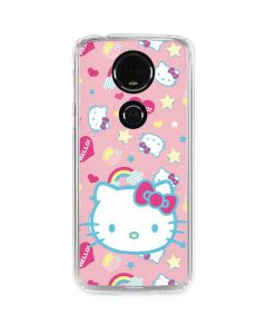 Hello Kitty Pink, Hearts & Rainbows Moto E5 Plus Clear Case