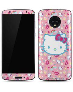 Hello Kitty Pink, Hearts & Rainbows Moto G6 Skin