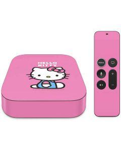 Hello Kitty Sitting Pink Apple TV Skin