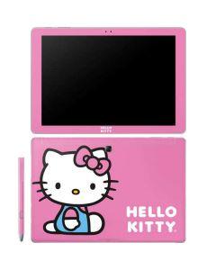 Hello Kitty Sitting Pink Galaxy Book 12in Skin