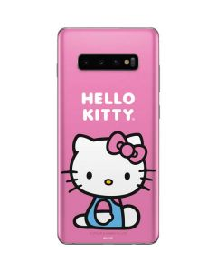 Hello Kitty Sitting Pink Galaxy S10 Plus Skin