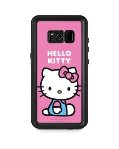 Hello Kitty Sitting Pink Galaxy S8 Plus Waterproof Case