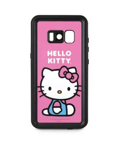 Hello Kitty Sitting Pink Galaxy S8 Waterproof Case